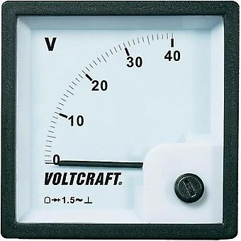 VOLTCRAFT AM-72x72/40V Analogue panel-mount measuring instrument