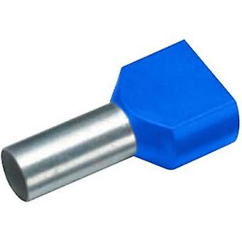 Twin ferrule 2 x 0.75 mm² x 8 mm Partially insulated Blue Cimco