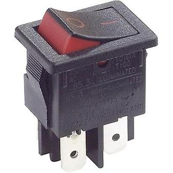 Toggle switch 250 Vac 10 A 2 x Off/On Arcolectric H8550XBAAA latch 1 pc(s)
