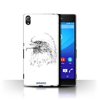 STUFF4 Case/Cover for Sony Xperia Z4/Eagle/Bird/Sketch Drawing