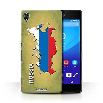 STUFF4 Case/Cover for Sony Xperia Z4v/E6508/Russia/Russian/Flag Nations