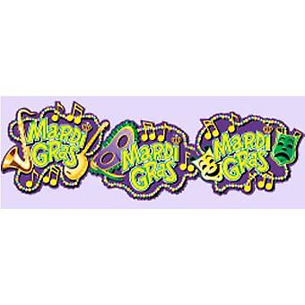 Mardi Gras Cutouts Printed On Both Sides 45.72cm (3 in a pack)