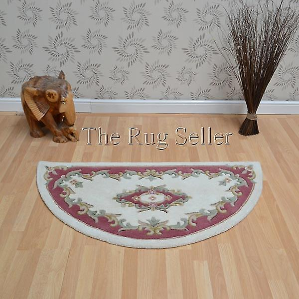 Royal Aubusson Half Moon Rugs In Cream Pink