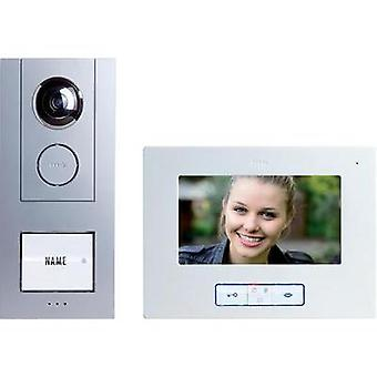 Video door intercom Corded Complete kit m-e modern-electronics Vistus VD 6710 Detached Silver, White