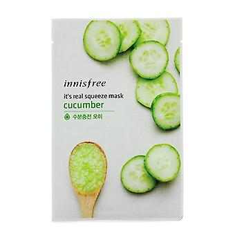 Innisfree It's Real Squeeze Mask - Cucumber 10pcs