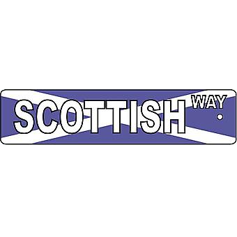 Scottish Way Street Sign Car Air Freshener