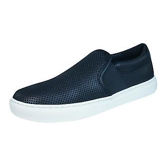 Geox D Trysure B Womens Leather Slip On Trainers / Shoes - Black