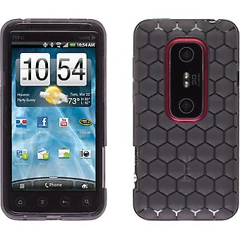 Wireless Solutions Honeycomb Dura-Gel Case for HTC EVO 3D - Smoke