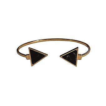 Minimalistyczny szyk instrukcja marmuru mankiet bransoletka trójkąt czarny