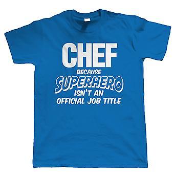 Vectorbomb, chef-kok superheld, Mens grappig T-Shirt (S tot 5XL)