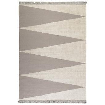 Smart-Dreieck Teppiche 0002 02 von Teppichen & Co In Grau und Beige