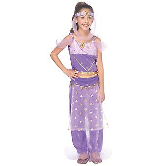 Magic Genie Princess Jasmine Arabian Aladdin Harem Storybook Girls Costume