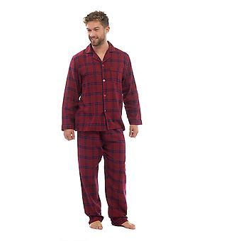 Mens cotone Yard tinto controllare pigiama Lounge usura insieme