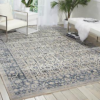 Malta Rugs Mai04 By Kathy Ireland In Ivory And Blue