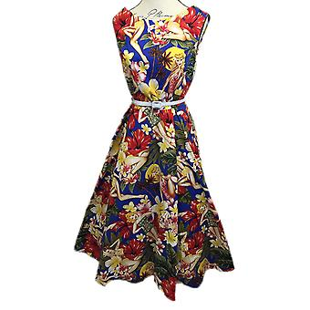 BOOLAVARD Women's Audrey Hepburn 1950's Rockabilly Dress