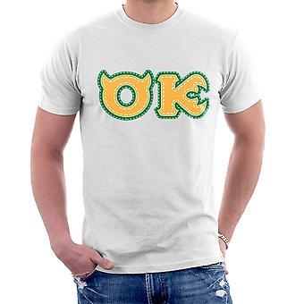 Monster University Fraternity Oozma Kappa OK Men's T-Shirt