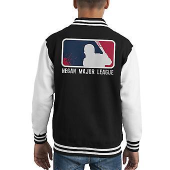 Negan Major League Baseball Walking Dead Kid's Varsity Jacket