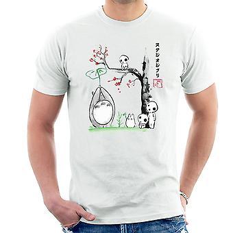 Studio Ghibli wachsen Bäume Sumie Totoro Herren T-Shirt