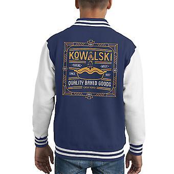 Fantastiska vidunder Kowalski kvalitet bakade varor Kid's Varsity jacka