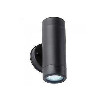 Kilde sort plast op ned væg lys GU10
