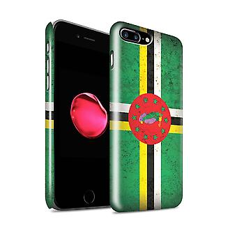 STUFF4 Glanz zurück Snap-On Handy Hardcase für Apple iPhone 7 Plus / Dominica/Dominikanische Design / Amerika Flagge Kollektion