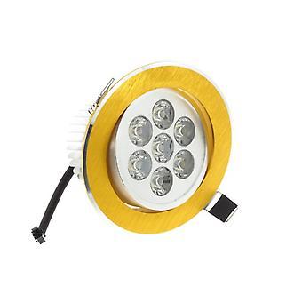 Na miejscu I LumoS wysokiej jakości Epistar 7 watów Gold Circle aluminiowy LED Downlight