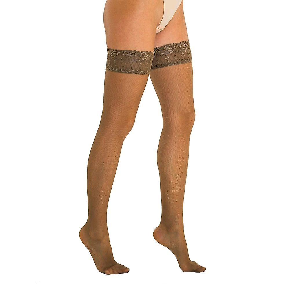Solidea Brigitte Micro Rete 70 Sheer Support Hold Ups [Style 40570] Nero (Black)  S