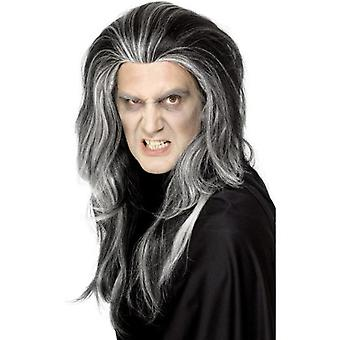 Smiffys Gothic Vampire Wig Black Long With White Highlights (Costumes)