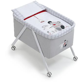Interbaby Minicuna Aluminium Grey White Model Friends