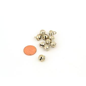 10 Silver 9mm Cat Bell Style Jingle Bells for Crafts