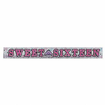Amscan Sweet 16 Birthday Party Fringed Glitter Banner