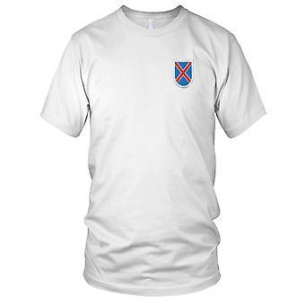 Amerikanske hær - 10th Mountain Division Flash broderet Patch - Kids T Shirt