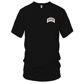 US Armee - Army Ranger Rocker Wüste gestickt Patch - Herren-T-Shirt