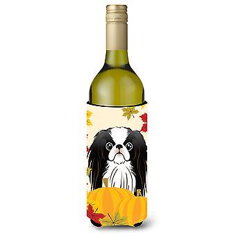 Бутылка вина благодарения японский подбородок напиток Hugger изолятор