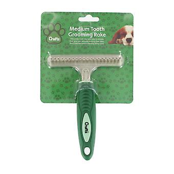 Crufts Medium Metal Tooth Grooming Rake Comb Brush Pet Accessory
