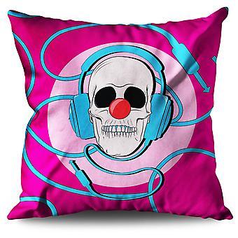 Clown Skull Linen Cushion Clown Skull | Wellcoda