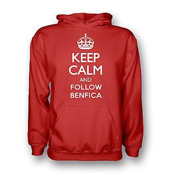 Mantener la calma y seguir Benfica con capucha (roja) - los niños