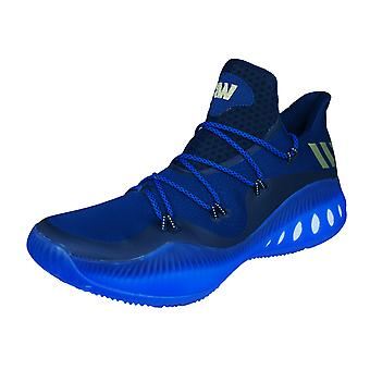Adidas Crazy Explosive faible Mens Basketball formateurs / chaussures - Blue