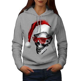 Swag Santa Claus Fashion Women GreyHoodie | Wellcoda