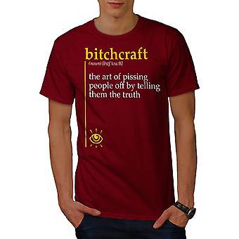 Bitchcraft Pissing Men RedT-shirt | Wellcoda