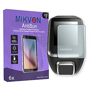 TomTom Golfer 2 Screen Protector - Mikvon AntiSun (Retail Package with accessories)