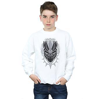 Marvel Boys Black Panther Head Sweatshirt