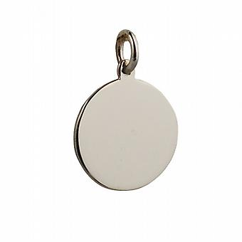 9ct Gold 17mm round plain Disc