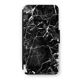 iPhone 6/6S Plus Flip Case - sort marmor 2