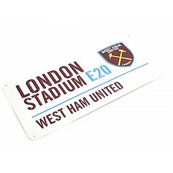 West Ham United FC Metal Street tegn