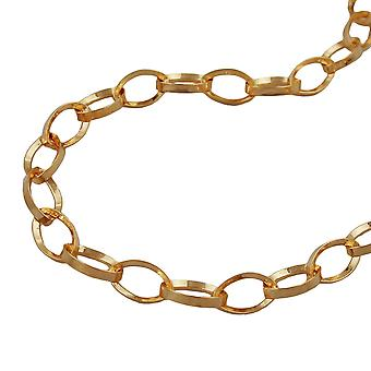 Anchor chain necklace triangular gold-plated 70cm