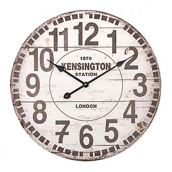 Balance Wall Clock 60 cm Analogue White/Brown