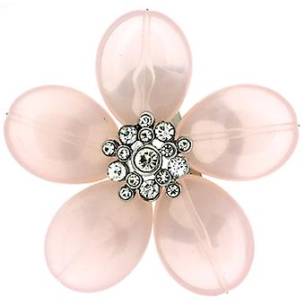 Brooches Store Pink Acrylic & Crystal Flower Brooch