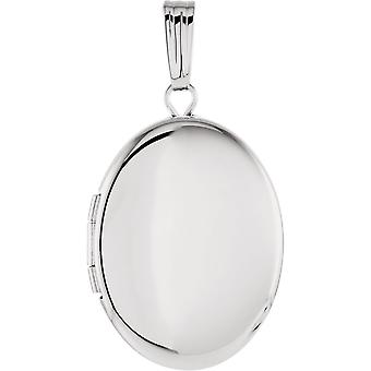 Sterling Silver Oval Locket With Engraved 29.25x15.5mm