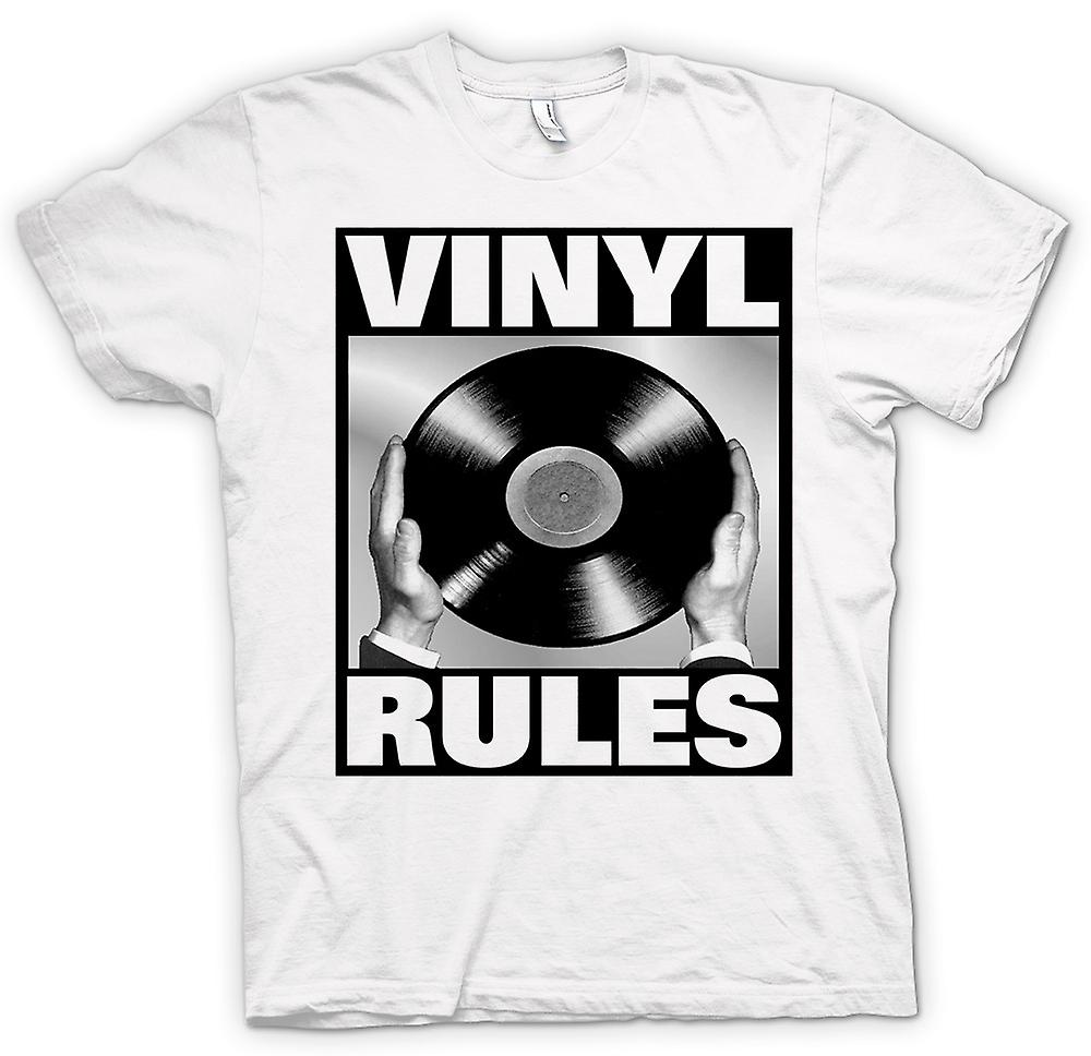 Mens T-shirt - Vinyl Rules - DJ Mixing